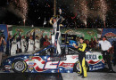 Brad Keselowski, driver of the #2 Miller Lite Ford, celebrates in Victory Lane after winning the NASCAR Sprint Cup Series Quaker State 400 presented by Advance Auto Parts at Kentucky Speedway on June 28, 2014 in Sparta, Kentucky. - Photo Credit: Sean Gardner/Getty Images