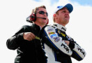 Clint Bowyer, driver of the #15 PEAK Toyota Camry, and crew chief Brian Pattie - Photo Credit: Sean Gardner/Getty Images