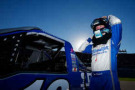 Tyler Reddick, driver of the #19 DrawTite Ford, prepares to drive during qualifying for the NASCAR Camping World Truck Series Fred's 250 at Talladega Superspeedway on October 17, 2014 in Talladega, Alabama. - Photo Credit: Matt Sullivan/Getty Images