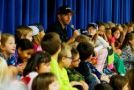 Matt Crafton Reads To Students At Roanoke Elementary