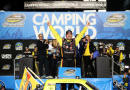 Matt Crafton, driver of the #88 Jeld-Wen/Menards Toyota, celebrates in Victory Lane after winning the series championship and placing ninth in the NASCAR Camping World Truck Series Ford EcoBoost 200 at Homestead-Miami Speedway on November 14, 2014 in Homestead, Florida. - Photo Credit: Chris Graythen/Getty Images