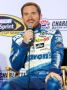 Driver Brian Vickers speaks to reporters during the Charlotte Motor Speedway NASCAR Media Tour at the Charlotte Convention Center on January 27, 2015 in Charlotte, North Carolina.  (Photo Credit: Bob Leverone / Getty Images)