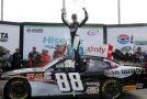 Kevin Harvick, driver of the #88 Bad Boy Buggies Chevrolet, celebrates in victory lane after winning the NASCAR XFINITY Series Hisense 250 at Atlanta Motor Speedway on February 28, 2015 in Hampton, Georgia. - Photo Credit: Jerry Markland/Getty Images