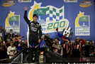 Kasey Kahne, driver of the #00 Haas Automation Chevrolet, celebrates in victory lane after winning the NASCAR Camping World Truck Series North Carolina Education Lottery 200 at Charlotte Motor Speedway on May 15, 2015 in Charlotte, North Carolina. - Photo Credit: Nick Laham/Getty Images
