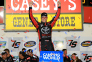 Erik Jones, driver of the #4 Special Olympics World Games Toyota, celebrates in Victory Lane after winning the NASCAR Camping World Truck Series American Ethanol 200 at Iowa Speedway on June 19, 2015 in Newton, Iowa. - Photo Credit: Daniel Shirey/Getty Images
