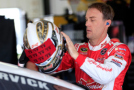 Kevin Harvick, driver of the #4 Budweiser/Jimmy John's Chevrolet, stands in the garage area - Photo Credit: Chris Trotman/Getty Images