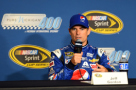 Jeff Gordon, driver of the #24 Pepsi Chevrolet, holds a press conference before practice for the NASCAR Sprint Cup Series Pure Michigan 400 at Michigan International Speedway on August 14, 2015 in Brooklyn, Michigan. - Photo Credit: Josh Hedges/Getty Images