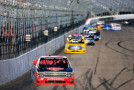 Austin Dillon, driver of the #33 Rheem Chevrolet, leads the field during the NASCAR Camping World Truck Series UNOH 175 at New Hampshire Motor Speedway on September 26, 2015 in Loudon, New Hampshire. - Photo Credit: Chris Trotman/Getty Images