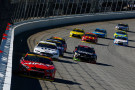 Kurt Busch, driver of the #41 Haas Automation Chevrolet, leads a pack of cars during the NASCAR Sprint Cup Series myAFibRisk.com 400 at Chicagoland Speedway on September 20, 2015 in Joliet, Illinois. - Photo Credit: Jonathan Ferrey/Getty Images