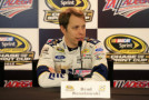 Brad Keselowski, driver of the #2 Miller Lite Ford, speaks to the media during a press conference prior to practice for the NASCAR Sprint Cup Series CampingWorld.com 500 at Talladega Superspeedway on October 23, 2015 in Talladega, Alabama. - Photo Credit: Daniel Shirey/Getty Images