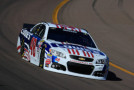 2015 NSCS Driver, Jimmie Johnson, on track at Phoenix Int'l Raceway in the No. 48 Lowe's Patriotic Chevrolet SS - Photo Credit: Chris Trotman/Getty Images